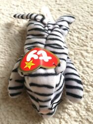 Ty Original Beanie Baby Blizz™ The White Tiger 1996 Rare With Blue Eyes