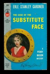 Vintage Mystery PB. ESG: The Case of the Substitute Face. Pocket 242. 160544