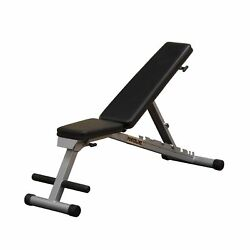 Powerline Portable Weight Bench Incline Decline Adjustable Compact Folding New