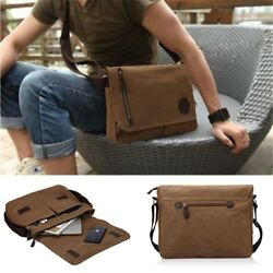 Laptop Messenger Bag for Men and Women Vintage Canvas and Waterproof Mixed $34.19