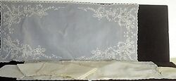 Vintage Embroidered Jusi Placemats Embroidered Doilies Napkins And Runner Uu215