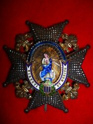 Spain Order Of Charles Iii Grand Cross Breast Star Superb Order 19th Cent.