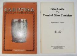 Carnival Glass Tumblers Vintage Book And Price Guide 1978 Richard Owens O As Is