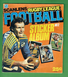 T306.  Set172 1984 Scanlens Rugby League Stickers And Album