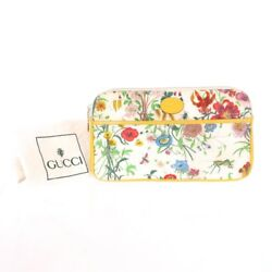 Vintage Gucci Rare Floral Yellow Leather Large  Clutch Bag.NFV5156