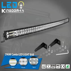 52inch Led Work Light Bar 396w Offroad Spot Flood Combo Roof Driving Truck 4wd