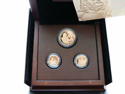 2011 Royal Mint London Olympic Games Higher Gold Proof 3 Coin Set Box Coa