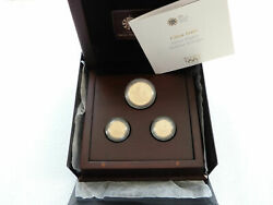 2010 Royal Mint London Olympic Games Faster Gold Proof 3 Coin Set Box Coa