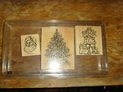 Lot Of Stampinand039 Up Old Fashioned Christmas New Unused Stamps Santa Tree Toys Set