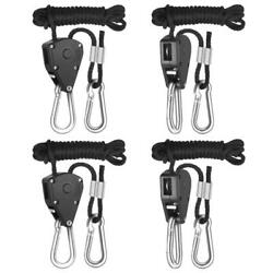 iPower 2-Pack 18 Inch 8-Feet Long Heavy Duty Adjustable Rope Clip Hanger...