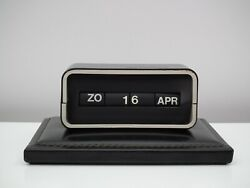Vintage / Retro Flip Clock Dator / Date / Calender With Leather