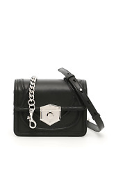 Alexander mcqueen leather small wicca bag 529413 0SI0I Black - Authentic