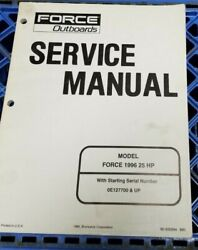 Used Force Outboards Service Manual 25 Hp 1996 90-830894