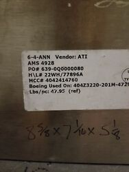 One pallet of 7050 aluminum plate and 6-4ann Titanium plate est total 1230lbs
