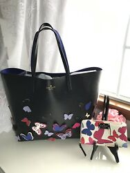 Kate Spade XL Butterfly Tote WWallet Bag Purse Carryall Easter Gift