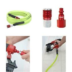 Flexzilla Air Hose With Colorconnex Industrial Type D Coupler And Plug 14 In.