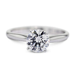 5.03 Carat Round Cut F - SI2 Solitaire Diamond GIA Engagement Ring custom size