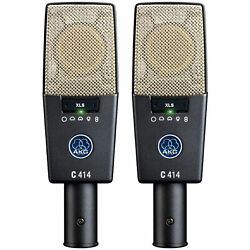 AKG C414 XLS Matched Pair of Studio Condenser Microphones C 414 Stereo Mic Set