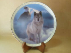 Bradford Exchange United In Spirit Limited Edition Wolf Plate Number 11625f