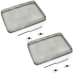 2-pack Hqrp 5.9x8.5 Rv Furnace Water Heater Vent Cover Flying Bug Insect Screen