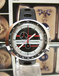 Super Vintage Leonidas / Heuer 1970and039s Sears Chronograph Wrist Watch Serviced