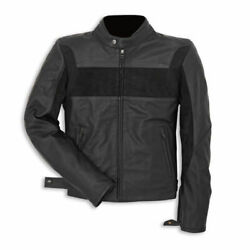 New Mens Full Black Classic Racing Motorcycle Cowhide Leather Jacket Safety Pads