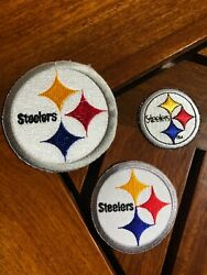 Lot Of 3 Pittsburgh Steelers Iron On Patches