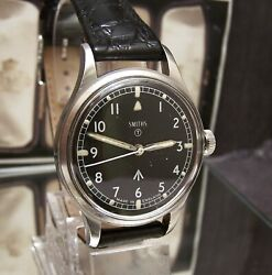 Antique Vintage 1968 Smiths W10 Military Army Black Dial Watch Fully Serviced