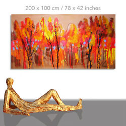 Painting Landscape Autumn Warm Colors Wall Modern Living Room Art 78 X 40