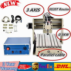 Parallel cable! 3-Axis CNC 3020T CNC Router 300W Engraving Engraver Milling HOT