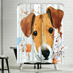 East Urban Home Allison Jack Russell Terrier Puppy Shower Curtain