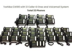 Toshiba Cix100 Professional Phone System With 33 Phones Dp5032-sd