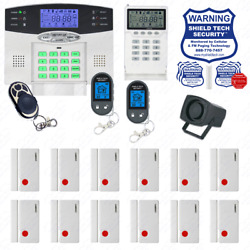 Wireless Home Security System 2-way Lcd Remote Burglar Alarm Voip Phone Line Gb
