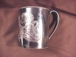 Rogers Smith And Co Embossed Baby Cup Children Figures Est 19th Century Excel