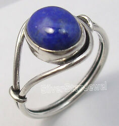 925 Solid Silver Collectible Lapis Lazuli Urban Style Ring Any Size Traditional
