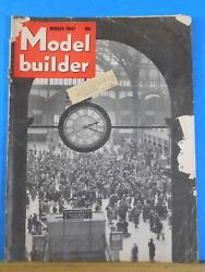 Model Builder 1947 March Lionel Magazine Grand Central Feed Mill Side Track Indu
