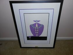 Erte And039and039la Somptueuseand039and039 Serigraph Signed And Numbered. Framed. Mint Condition