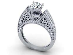 Solitaire Engagement Ring Si1 G 2.30 Cat Round Diamond 14k Solid Gold Appraisal