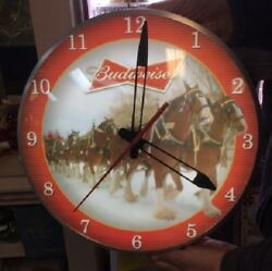 Bradford Exchange Numbered 779/10000 Budweiser Clydesdale Illuminated Wall Clock