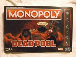 ▶ Deadpool Monopoly Game Sealed Marvel Edition Board Game Hasbro New
