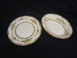 Royal Doulton Lot Of 2 Pieces Kenilworth Dinner Plate And Oval Serving Bowl Vgc
