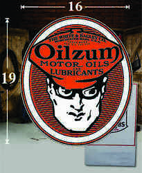 19 X 16 Oilzum Shield Gas Vinyl Decal Lubester Oil Pump Can Lubster