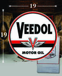 19 X 19 Veedol Gas Pa Oil Vinyl Decal Lubester Oil Pump Can Lubster