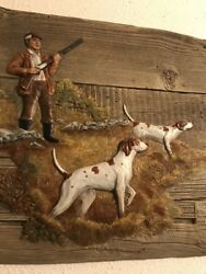 Opening Day Relief Sculpture Betty Henderson 50/1000 Wall Dog Bird Hunting