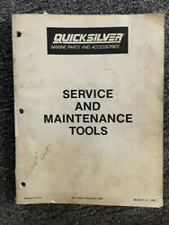 Mercury Quicksilver Marine Parts And Accessories Service And Maintenance Tools