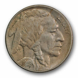 1919-s 5c Buffalo Nickel About Uncirculated Au Luster Remaining Tough R1595