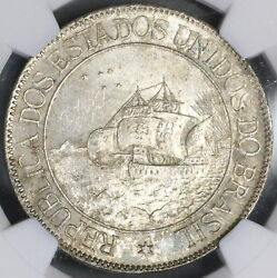 1900 Ngc Ms 63 Brazil Silver 2000 Reis Discovery Coin 20k Minted 17120103c