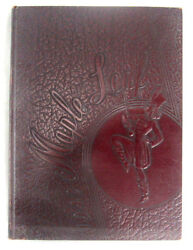 1942 Yearbook Hornell High School Albany New York Maple Leaf Maroon Cover