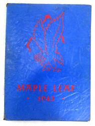 1943 Yearbook Hornell High School Albany New York Maple Leafs Blue Paperback