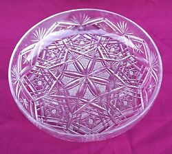 French Cut Crystal Large Fruit Bowl Dish Nancy Early 20th C